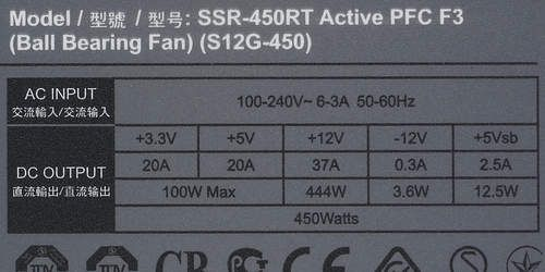 Review Power supply Seasonic S12G-450 (SSR-450RT)