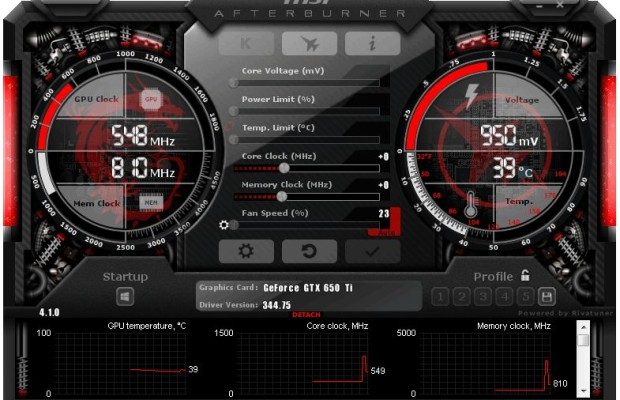 MSI Afterburner 4.1.0 launches a revamped interface
