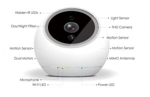 iCam Pro FHD: Surveillance camera with 360 degree view