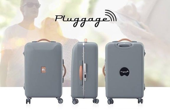 Delsey demonstrated a working prototype of a smart suitcase Pluggage