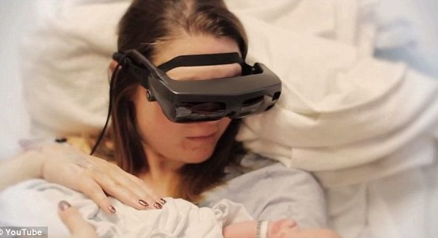Electronic glasses eSight allowed nearly blind woman to look at her child