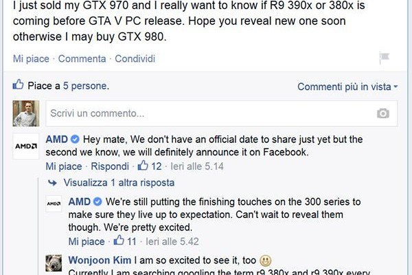 AMD confirms: the debut of the video cards in the 300 series is near
