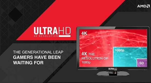 AMD: «Capacity power GPU - a major factor in the promotion of 4K-resolution""