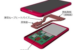 Smartphone Fujitsu has developed a cooling system with a vaporization chamber