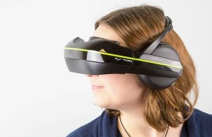 New VR-helmet headset Vuzix IWear 720 and includes support for multiple devices