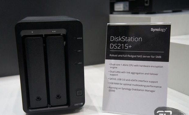 CeBIT 2015: Network Attached Storage Synology DiskStation on two drives