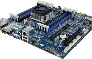 The new GIGABYTE motherboard has on-board eight-processor ARMv8