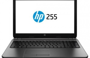Accelerators AMD E1-6015 and A8-7410 seen in the specification sheet notebook HP 255 G4
