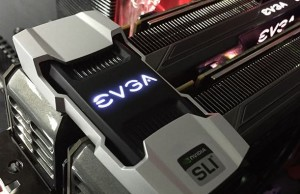 EVGA offers a second-generation SLI-bridge illuminated