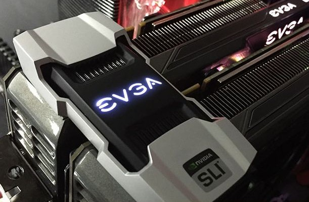 EVGA offers a second-generation SLI-bridge illuminated