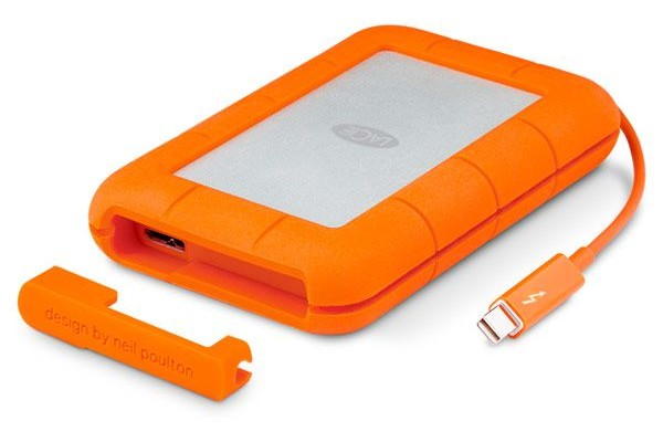 External protected SSD LaCie Rugged 1TB valued at $ 950