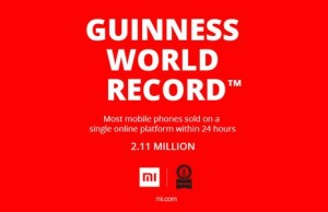 The company Xiaomi hit the Guinness Book of Records