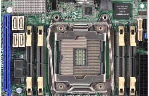 ASRock made a mini-ITX board with socket LGA 2011-3 and four-channel memory