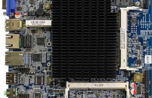 Mainboard Habey MITX-6770 size mini-ITX has two ports Gigabit Etherenet and TPM